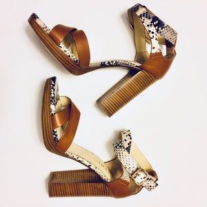 M. Gemi Handcrafted Italian Python Leather Heels